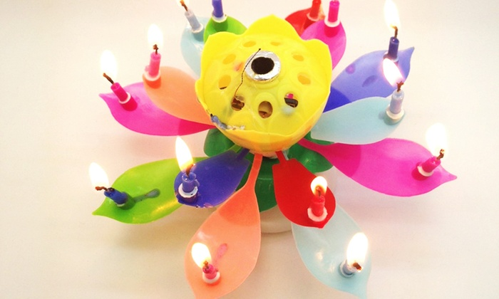 Magic Musical Happy Birthday Flower Candles