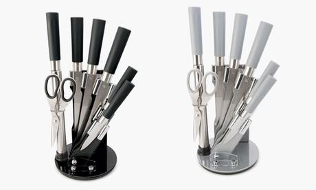 Set de cuchillos de acero inoxidable de 8 piezas con tacoma