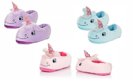 One (AED 69), Two (AED 119) or Three (AED 149) Pairs of Unicorn Slippers (Up to 28% Off)