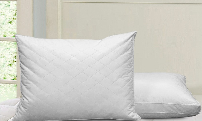 Royal Majesty 2- or 4-Pack of Quilted Feather Pillows: Royal Majesty 2- or 4-Pack of Quilted Feather Pillows