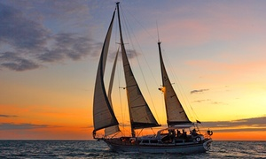 Starsand Yacht Charters: Three-Hour Twilight Cruise + Seafood and Wine for One ($79) or Four ($309) at Starsand Yacht Charters (Up to $840 Value)