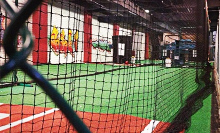 Batting-Cage Hitting for One or Two at Philly Athletics (Half Off)