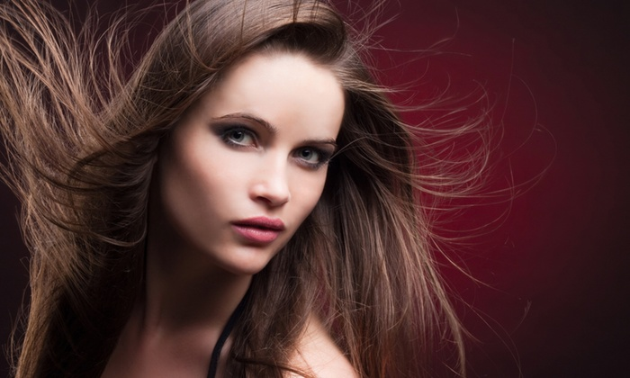 Skye Salon & Boutique - Northwest Austin: Haircut Package with Hot-Towel Treatment at Skye Salon & Boutique (Up to 52% Off). Three Options Available.