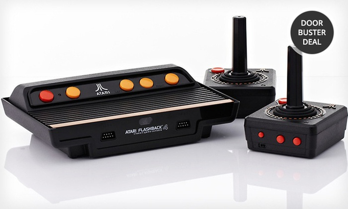 atari flashback console with 76 games groupon. Black Bedroom Furniture Sets. Home Design Ideas