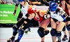 Sacred City Derby Girls - Multiple Locations: $25 for Bus Ride, Beer, VIP Seating, T-shirt, and Sticker Pack for Sacred City Derby Girls Bout August 25 (Up to $52.04 Value)