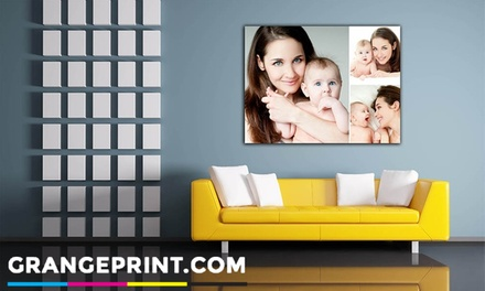 Personalised Canvas in Choice of Size from Grange Print (Up to 89% Off)