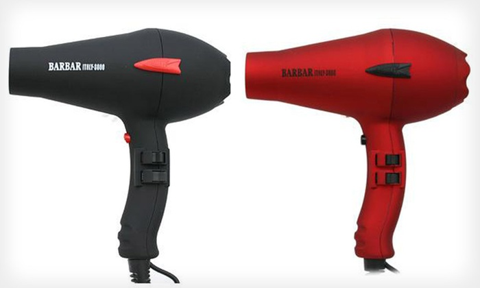 Barbar Italy Ionic Charger Blow Dryer: $59 for a Barbar Italy Ionic Charger Blow Dryer in Black or Red ($150 List Price)