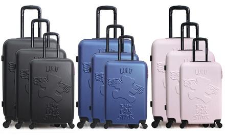 Set 3 valigie Lulu Castagnette in ABS con ruote silenziose , disponibili in diversi colori