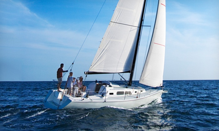 Afterguard Sailing Academy - Satellite Base at Treasure Island: Three-Hour Sailing Tour and Wine Tasting or Two-Day Sailing Class at Afterguard Sailing Academy (Half Off)