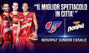 Basket A2 - Novipiù Casale vs Agrigento, 2 biglietti: Basket maschile A2: Novipiù Junior vs Moncada il 29 ottobre al Palaferraris, Casale Monferrato (sconto fino a 53%)