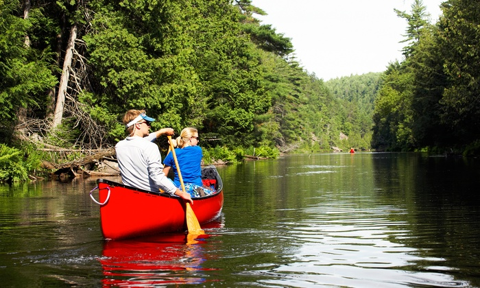 Riverview Ranch - Bourbon: Canoe Trip with Optional Camping for Two or Four or Raft Rental for Six from Riverview Ranch (50% Off)