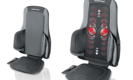 Sharper Image Air and Shiatsu Massage Chair Cushion. Free Returns.