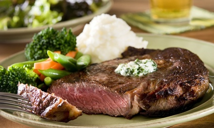 $21 for $40 Worth of Steaks, Seafood, and Cafe Food at Shank's Restaurant & Lounge