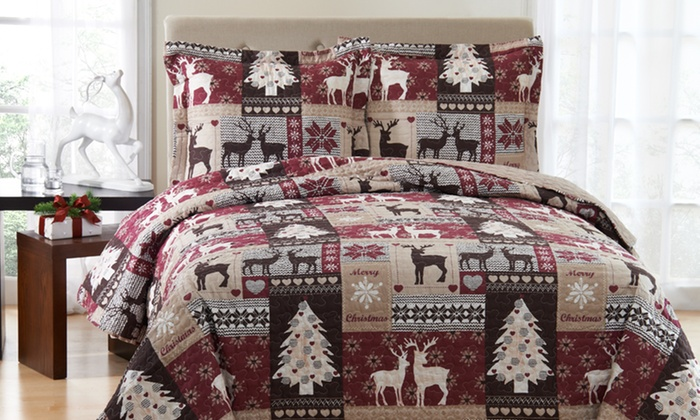 3-Piece Holiday Quilt Sets: 3-Piece Holiday Quilt Sets. Multiple Sizes from $32.99–$49.99. Free Returns.