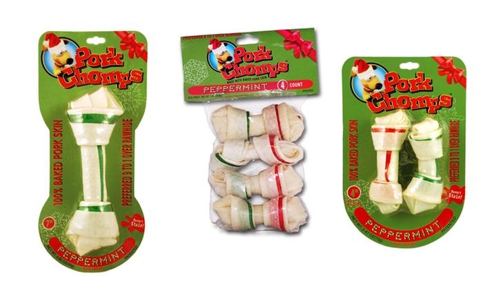 Holiday Pork Chomps Dog Bones:  Holiday Pork Chomps Dog Bones. Multiple Sizes from $4.99–$5.99. Free Returns.