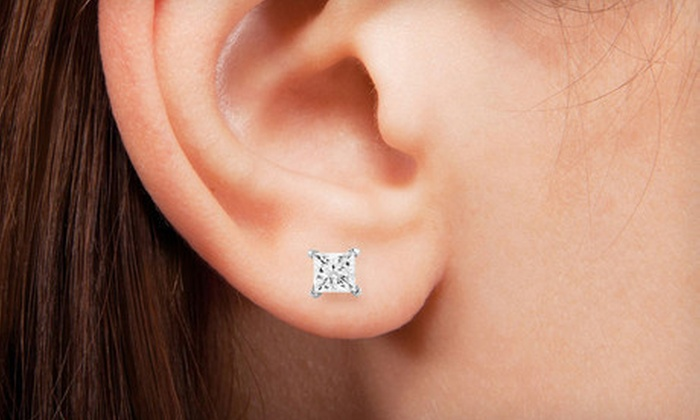 Diamond Earrings Groupon Goods