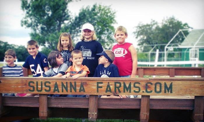 Susanna Farms - Lake Villa: $10 for a Corn-Maze Outing for Two at Susanna Farms in Lake Villa ($20 Value)