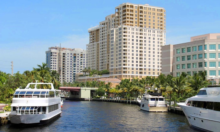 Port Everglades Tours - Downtown Fort Lauderdale: $62 for a Riverfront Tour with Drinks for Two from Port Everglades Tours ($80 Value)