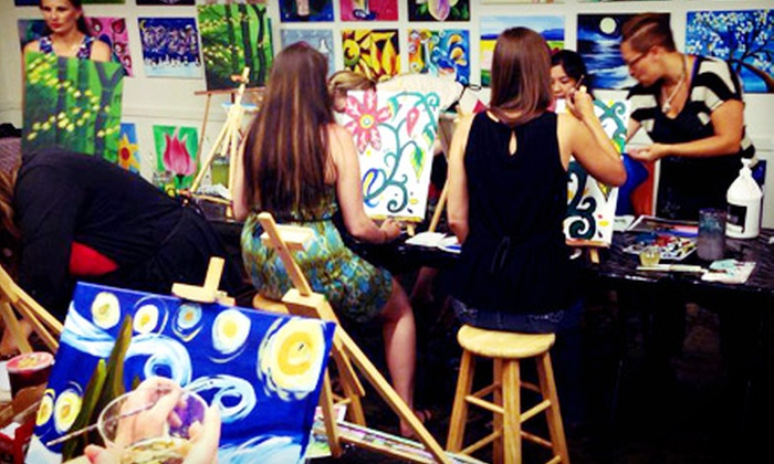 Wine & Design - Old Irving Park: BYOB Canvas Painting Class for One or Four at Wine & Design (Up to 46% Off). Three Options Available.