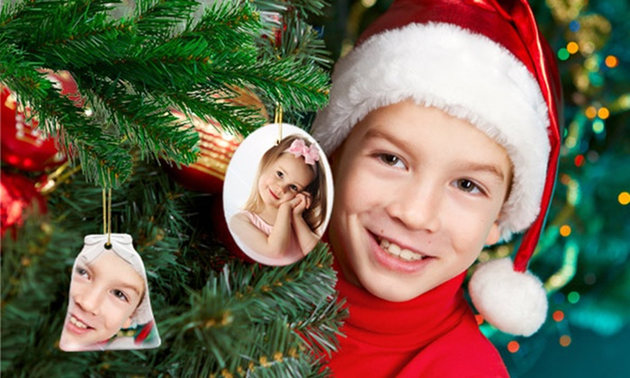 Custom Holiday Ornaments: 1, 3, or 5 Custom Holiday Ornaments from Printerpix from $4.99–$14.99