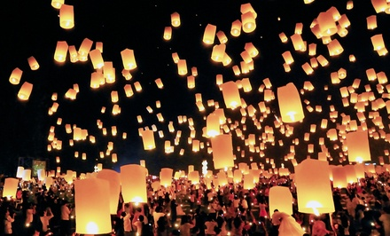 $39.99 for 20 Premium White Chinese Sky Lanterns from SkyLantern.com ($100 Value)