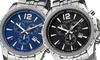 Akribos XXIV Men's Swiss Chronograph Stainless Steel Bracelet Watches: Akribos XXIV Men's Swiss Chronograph Stainless Steel Bracelet Watches in Black or Blue. Free Returns.