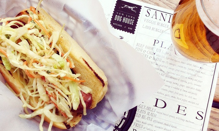 New York Dog House Kitchen & Bar - Astoria: Signature Gourmet Dogs, Hand-cut Fries, and Drinks for Two or Four at New York Dog House (Up to 49% Off)