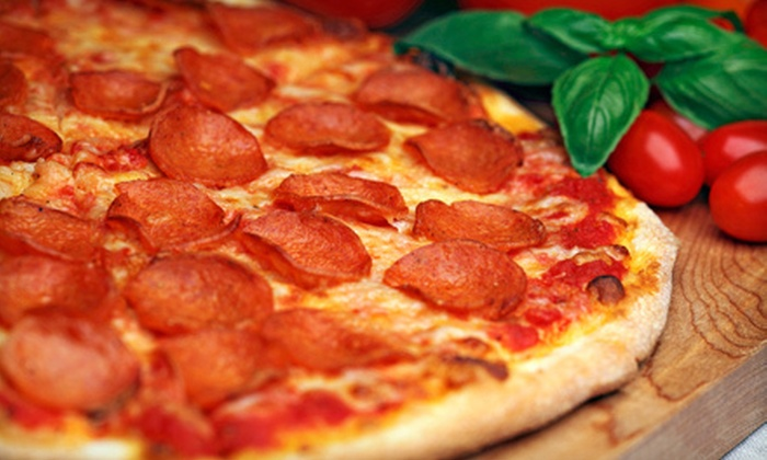 Garlic Breath Pizza Company - Adams Nel: $10 for $20 Worth of Pizza, Pasta, and Sandwiches at Garlic Breath Pizza Company