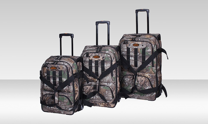 Real Tree 3-Piece Vertical Duffel Set: Real Tree 3-Piece Vertical Duffel Set