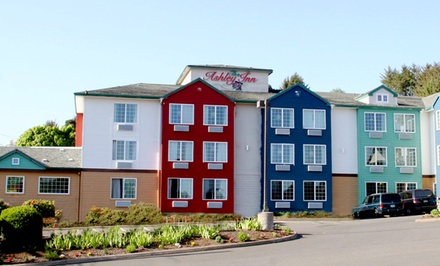 Groupon Deal: Stay with Movie Package at Ashley Inn and Suites Lincoln City in Oregon. Dates into June.