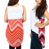 Women's Plus-Size High-Low Printed-Back Tops