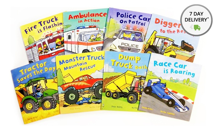 Busy Wheels Children's 8-Book Bundle: Busy Wheels Children's 8-Book Bundle