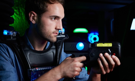Two or Four Games of Laser Tag for One or Two People at Mega Blast Laser Tag (Up to 29% Off)