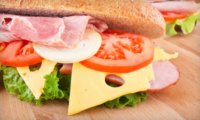 Java Deli & Subs - Victoria: $14 for Five 8-Inch Deli Sandwiches at Java Deli & Subs in Riverside (Up to $29.95 Value)