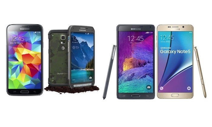 Samsung Galaxy S4, S5, S5 or S6 Active, Note 4, or Note 5 (Refurb