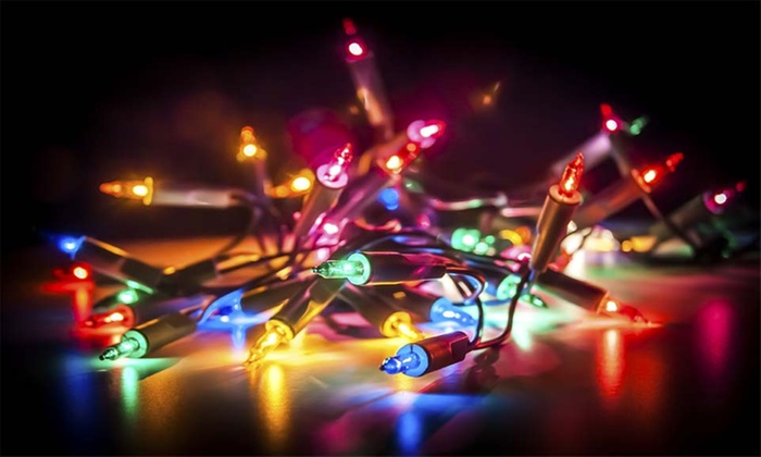 Rolling Luxury - Parking lot of Pier 1 imports: Early or Late Holiday Lights Bus Tour from Rolling Luxury (59% Off)