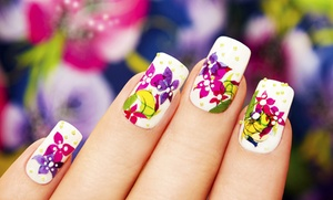Idol Nail: Acrylic Nails ($30) or Spa Manicure and Pedicure ($32) at Idol Nail (Up to $60 Value)