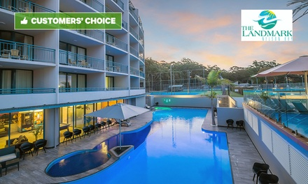 Port Stephens, Nelson Bay: Up to 4 Nights for Two or Four with Chocolates and Wine at The Landmark Resort Nelson Bay