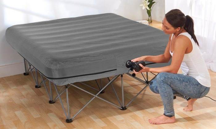 Inflatable Double Bed With Frame Groupon