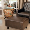 Empierre Leather Tufted Club Chair and Ottoman Set