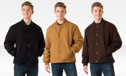 Skechers Men's Quilted Baseball Jacket. Multiple Colors Available.