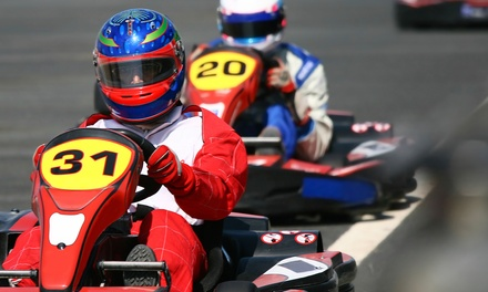 Go-Karting Package for Up to Four or Paintball Package for Two at New Jersey Motorsports Park (Up to 54% Off)