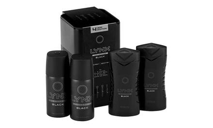 One, Two or Three Lynx Black Mini Tin Gift Sets for Men