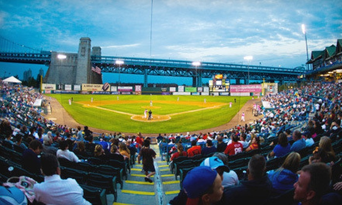 Camden Riversharks - Campbell's Field: Camden Riversharks Game for Two or Four with Two Fleece Hats at Campbell's Field (Up to 53% Off)