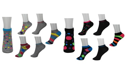 12-Pair-Pack of Minx Mix-and-Match Anklet Socks
