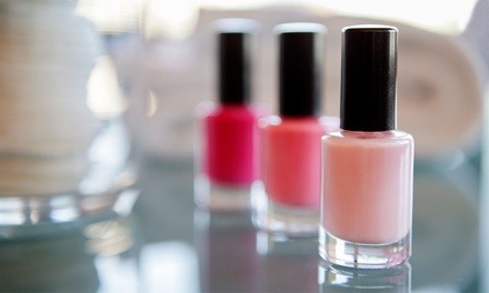Two Regular Manicures or Pedicures, Mani-Pedi, or Acrylic or Gel Full Set at Violet's Salon (Up to 54% Off)