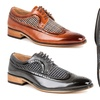 Gino Vitale Men's Wing-Tip Brogue Two-Tone Shoes