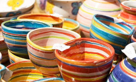 Make-Your-Own Pottery Class for Two or Four at Front Porch Pottery Studio (50% Off)
