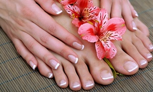 Silver Nails Beauty Center: Henna Design on Hand and Legs, Classic Mani-Pedi or Wash, Cut and Blow-Dry at Silver Nails Beauty Center (Up to 75% Off)