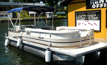 Two-Hour Tritoon Boat Rental (a $135 value) - Captain Mike Fink's Marina in Lake Ozark
